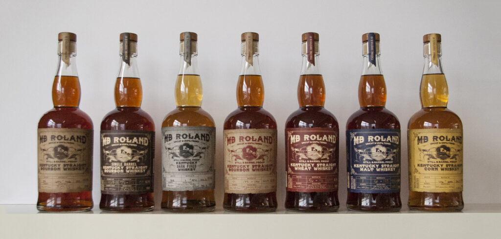 MB Roland Whiskeys in a line
